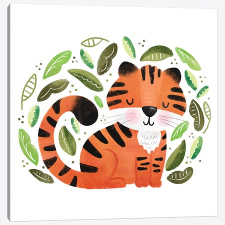 Safari Cuties Tiger Canvas Print #NDD148} by Noonday Design Canvas Art Print