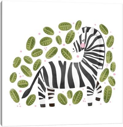 Safari Cuties Zebra Canvas Art Print