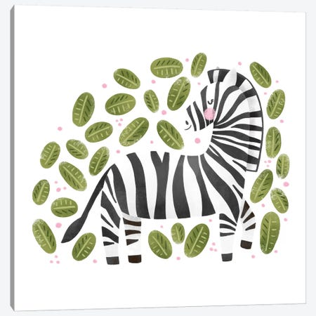Safari Cuties Zebra Canvas Print #NDD149} by Noonday Design Canvas Art Print