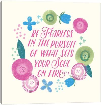Fierce Girl Pink IV Canvas Art Print