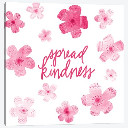 Cascading Blossoms Kindness Peace I Canvas Print #NDD18} by Noonday Design Canvas Artwork