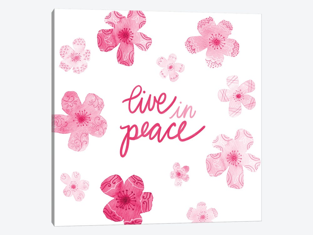 Cascading Blossoms Kindness Peace II by Noonday Design 1-piece Canvas Art