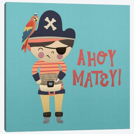 Ahoy Matey I Canvas Print #NDD1} by Noonday Design Canvas Artwork