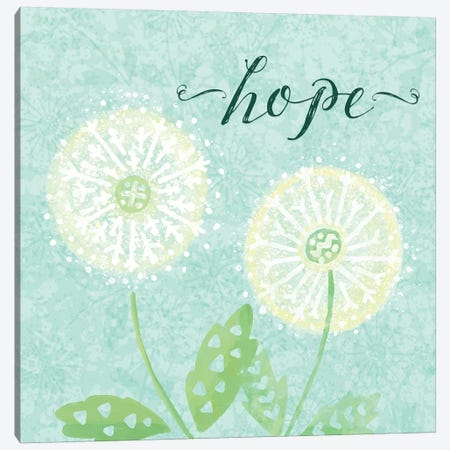 Dandelion Wishes II Canvas Print #NDD25} by Noonday Design Canvas Art