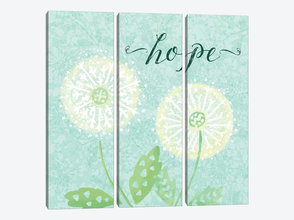 Dandelion Wishes II by Noonday Design 3-piece Canvas Art Print