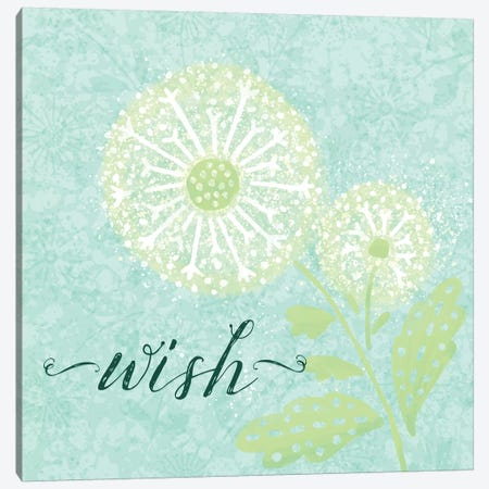 Dandelion Wishes III Canvas Print #NDD26} by Noonday Design Canvas Wall Art