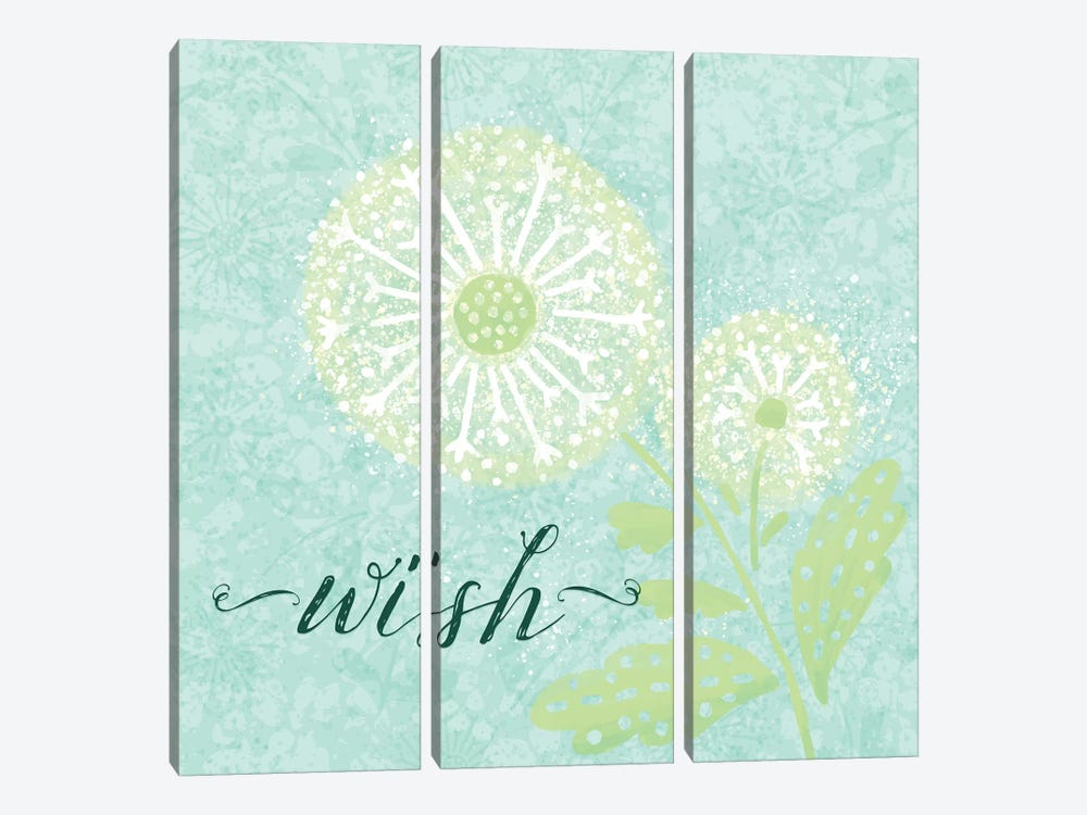Dandelion Wishes III by Noonday Design 3-piece Canvas Wall Art