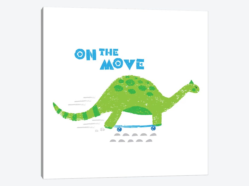 Dinos On The Move I by Noonday Design 1-piece Canvas Print