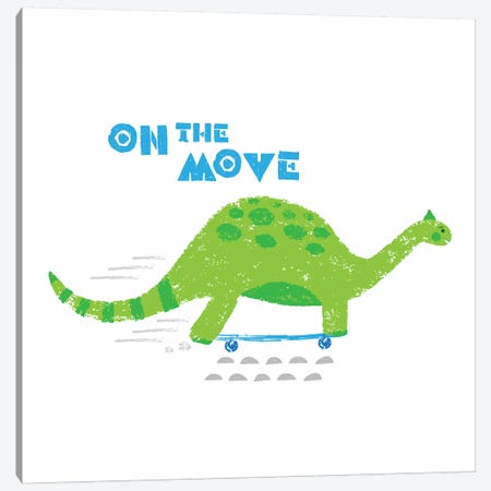 Dinos On The Move I Canvas Print #NDD27} by Noonday Design Canvas Artwork