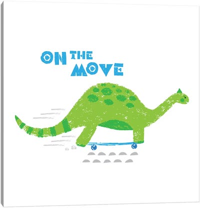 Dinos On The Move I Canvas Art Print
