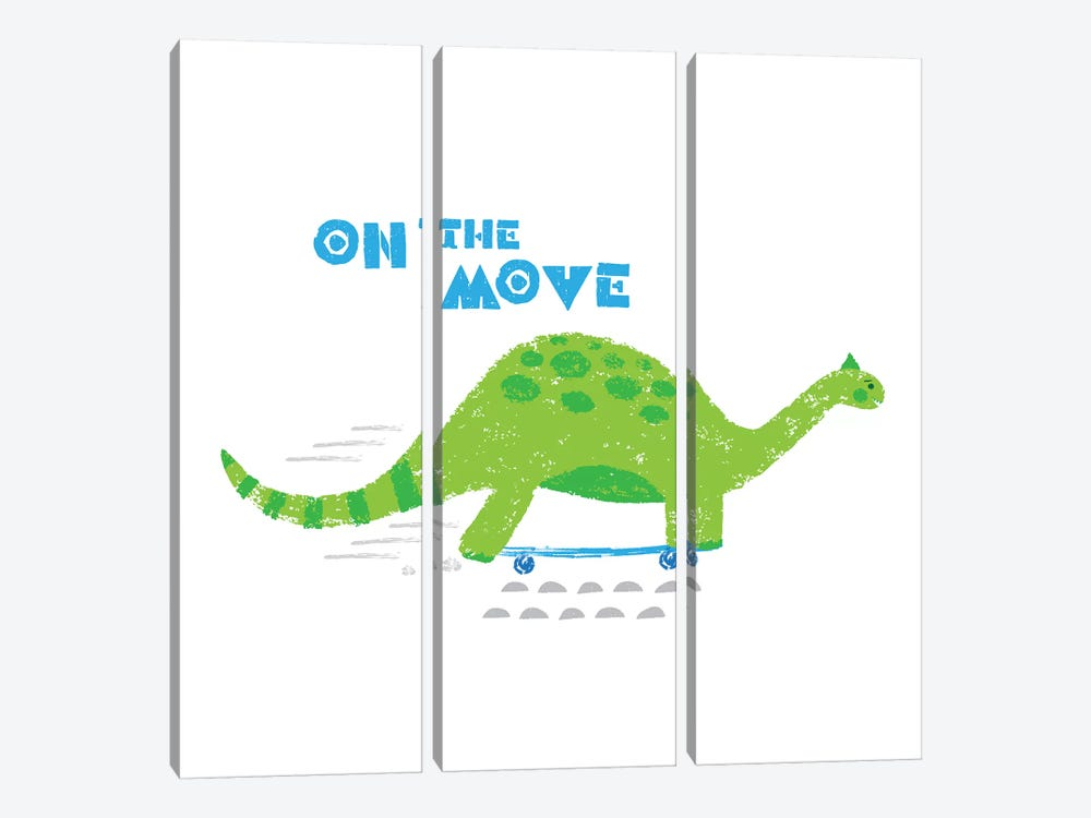 Dinos On The Move I by Noonday Design 3-piece Canvas Art Print