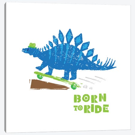 Dinos On The Move II Canvas Print #NDD28} by Noonday Design Art Print