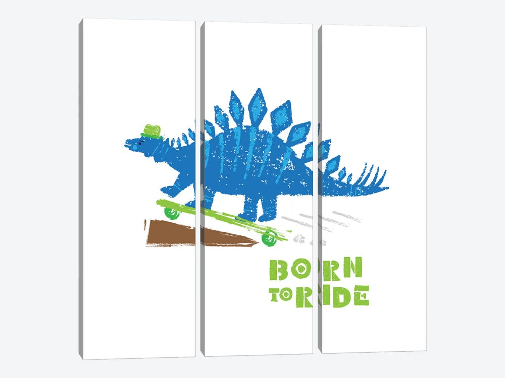 Dinos On The Move II by Noonday Design 3-piece Canvas Wall Art