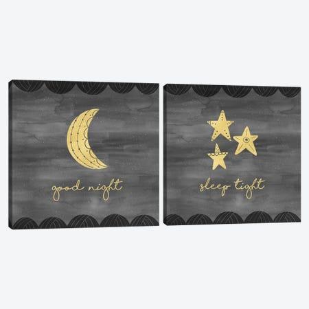 Good Night Sleep Tight Diptych Canvas Print Set #NDD2HSET001} by Noonday Design Canvas Art Print