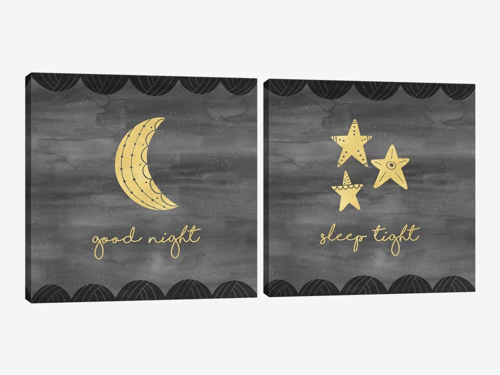 Good Night Sleep Tight Diptych by Noonday Design 2-piece Canvas Wall Art