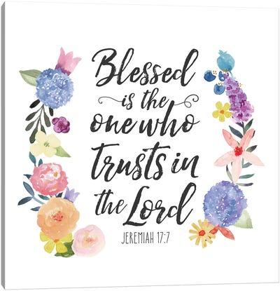 Floral Bible Verse I Canvas Art Print
