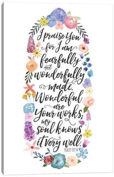Floral Bible Verse Panel II Canvas Art Print