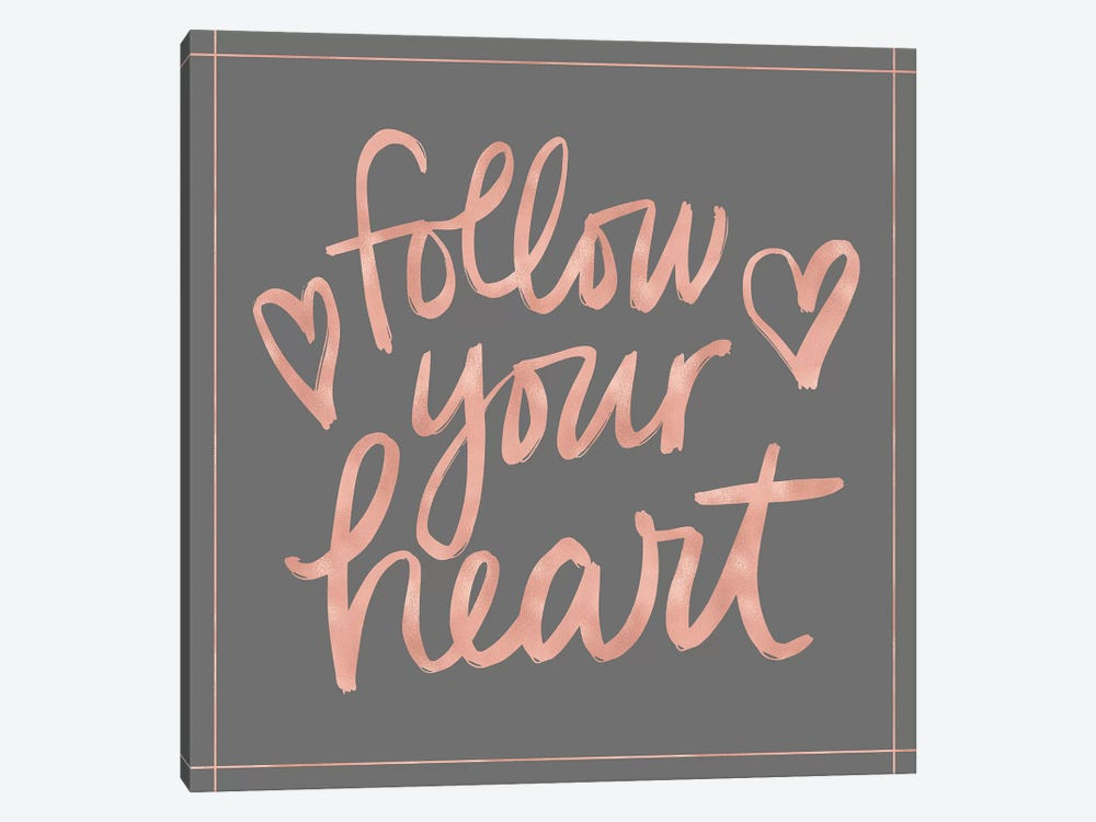 Follow Your Heart by Noonday Design 1-piece Canvas Wall Art