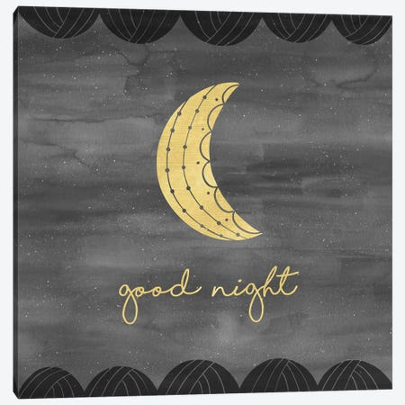 Good Night Sleep Tight I Canvas Print #NDD46} by Noonday Design Canvas Art