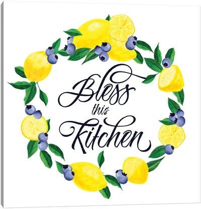 Lemon Blueberry Kitchen Sign I Canvas Art Print
