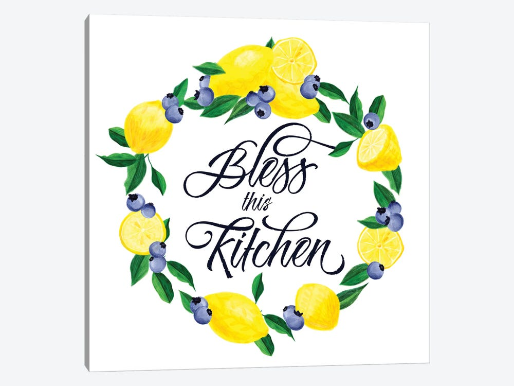 Lemon Blueberry Kitchen Sign I by Noonday Design 1-piece Canvas Artwork