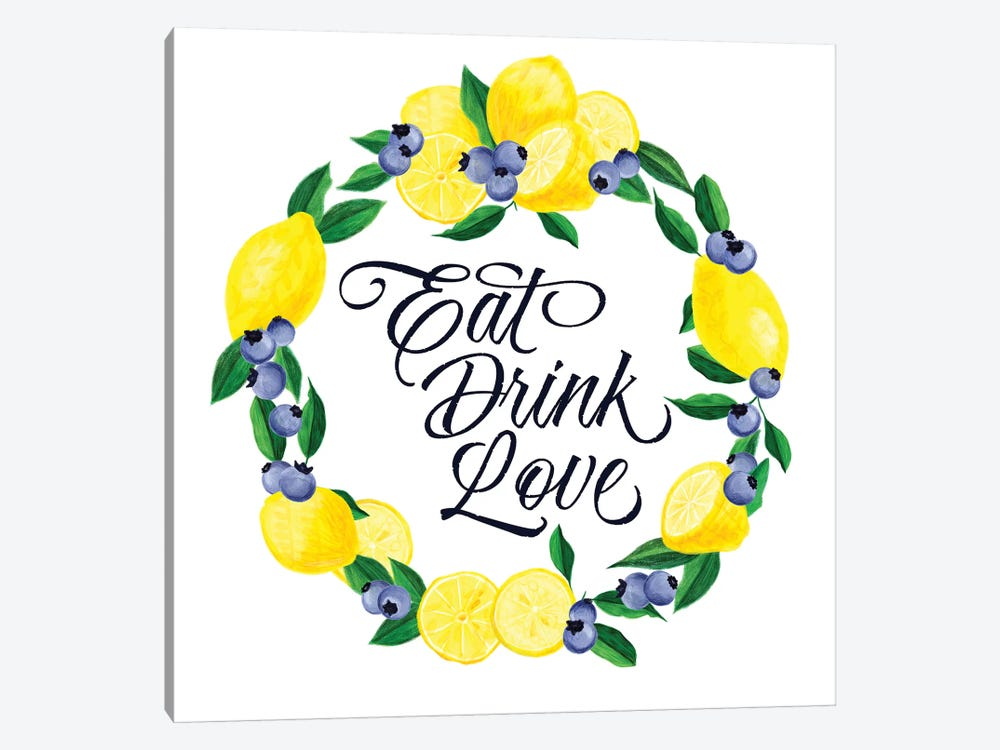 Lemon Blueberry Kitchen Sign II by Noonday Design 1-piece Art Print