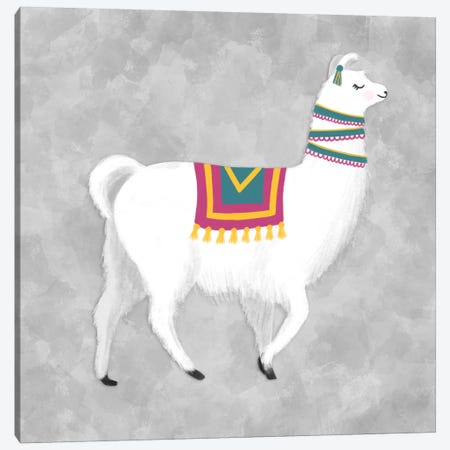 Lovely Llama I Canvas Print #NDD53} by Noonday Design Canvas Wall Art