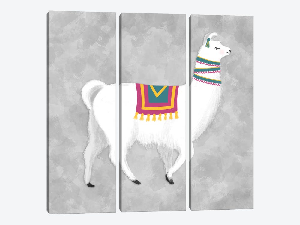 Lovely Llama I by Noonday Design 3-piece Canvas Art