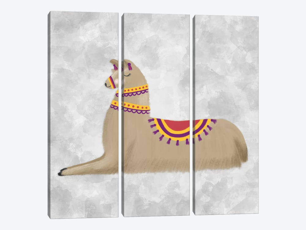Lovely Llama II by Noonday Design 3-piece Canvas Print