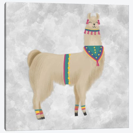 Lovely Llama III Canvas Print #NDD55} by Noonday Design Canvas Print
