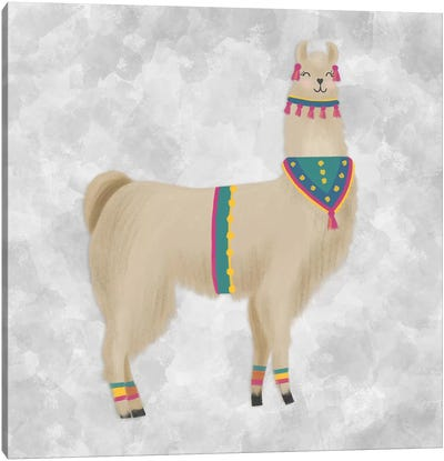 Lovely Llama III Canvas Art Print