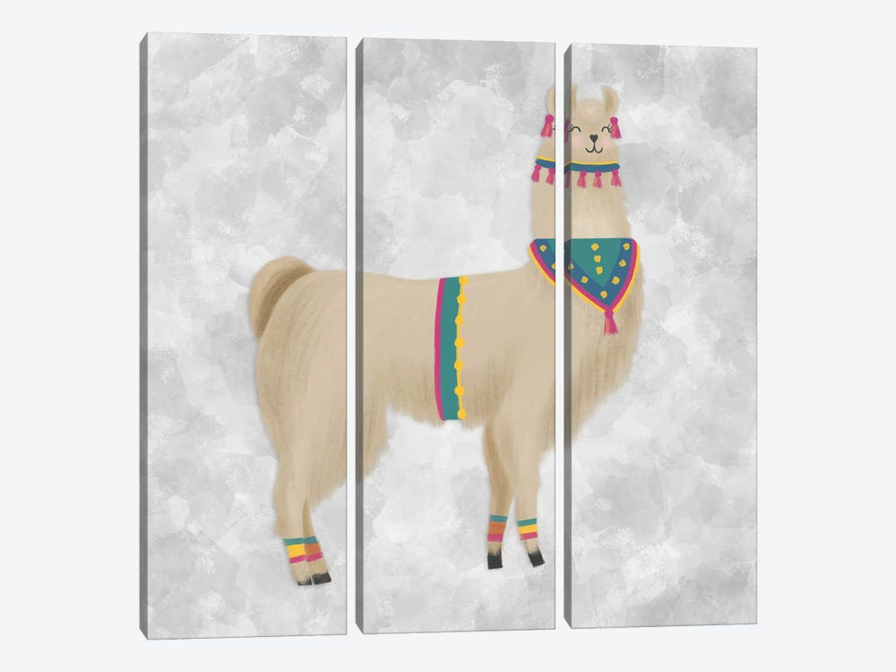 Lovely Llama III by Noonday Design 3-piece Canvas Art