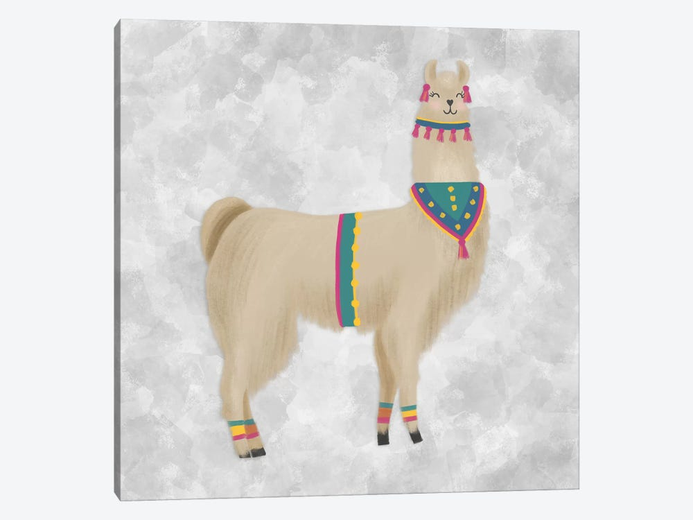 Lovely Llama III by Noonday Design 1-piece Canvas Artwork