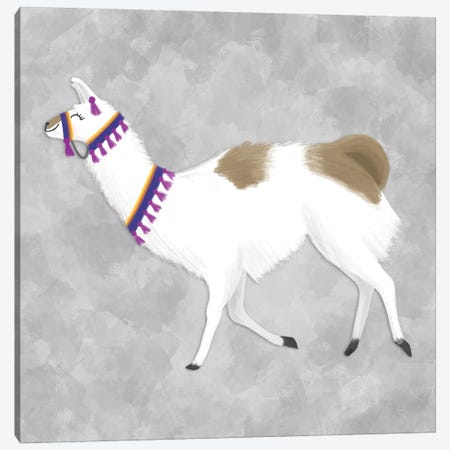 Lovely Llama IV Canvas Print #NDD56} by Noonday Design Canvas Art Print