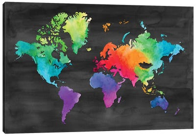 Map Of Many Colors Canvas Art Print