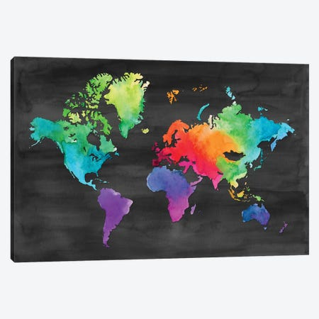 Map Of Many Colors Canvas Print #NDD57} by Noonday Design Canvas Print
