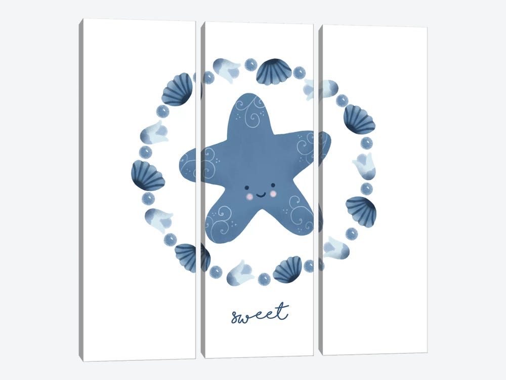 Ocean Friends III by Noonday Design 3-piece Canvas Wall Art
