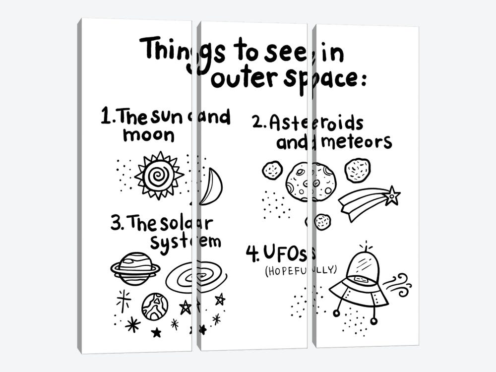 Outerspace III by Noonday Design 3-piece Canvas Wall Art
