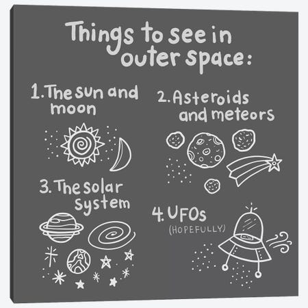 Outerspace/Black III Canvas Print #NDD72} by Noonday Design Canvas Wall Art