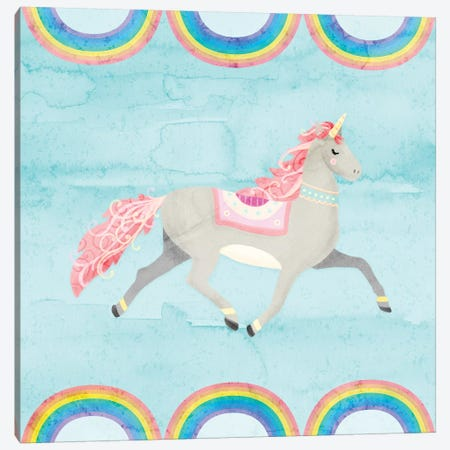 Rainbow Unicorn I Canvas Print #NDD74} by Noonday Design Canvas Print