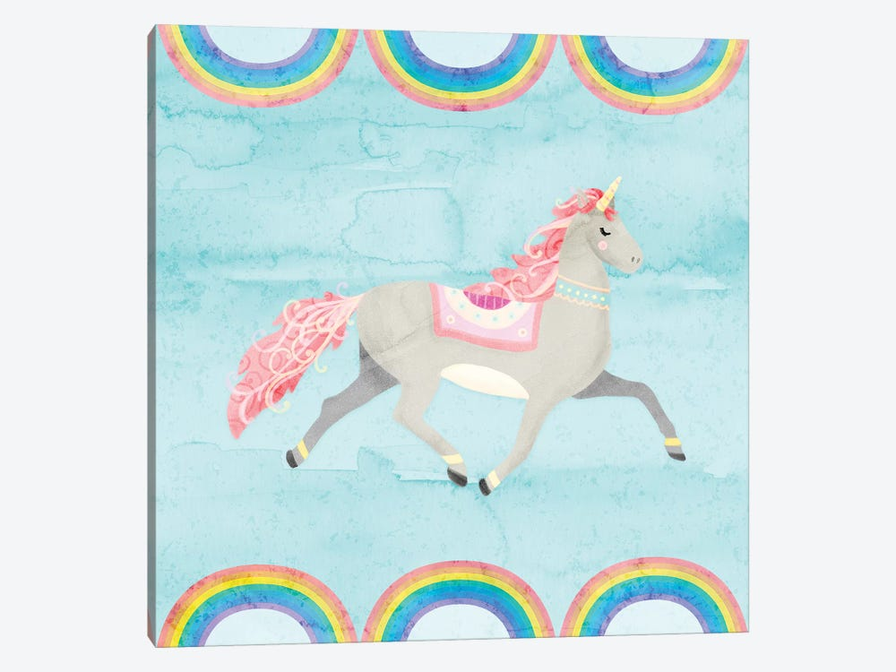 Rainbow Unicorn I by Noonday Design 1-piece Canvas Art Print