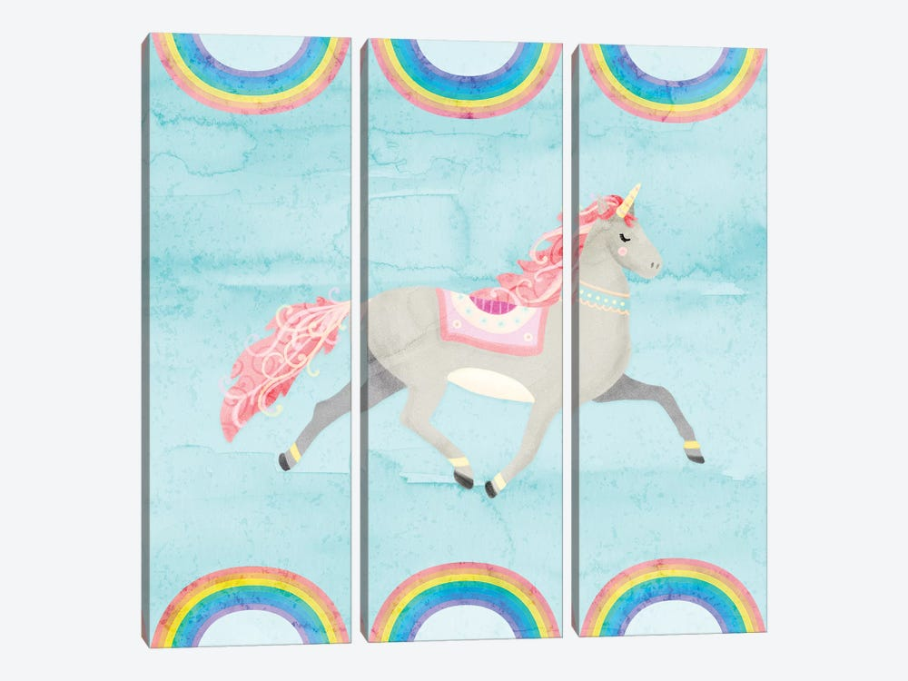 Rainbow Unicorn I by Noonday Design 3-piece Art Print