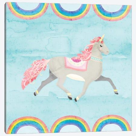 Rainbow Unicorn I 3-Piece Canvas #NDD74} by Noonday Design Canvas Print