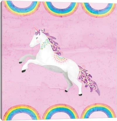 Rainbow Unicorn II Canvas Art Print