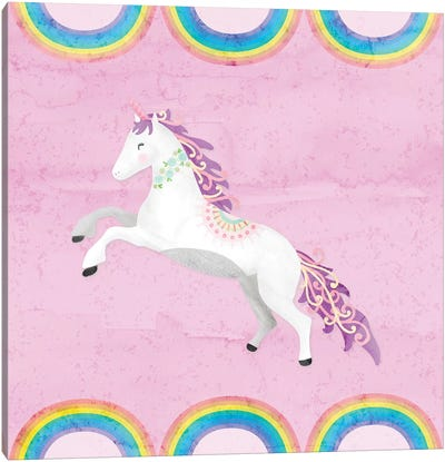 Rainbow Unicorn II Canvas Art Print