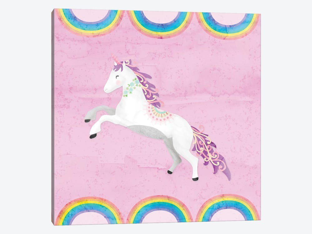 Rainbow Unicorn II by Noonday Design 1-piece Canvas Wall Art