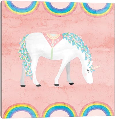Rainbow Unicorn III Canvas Art Print