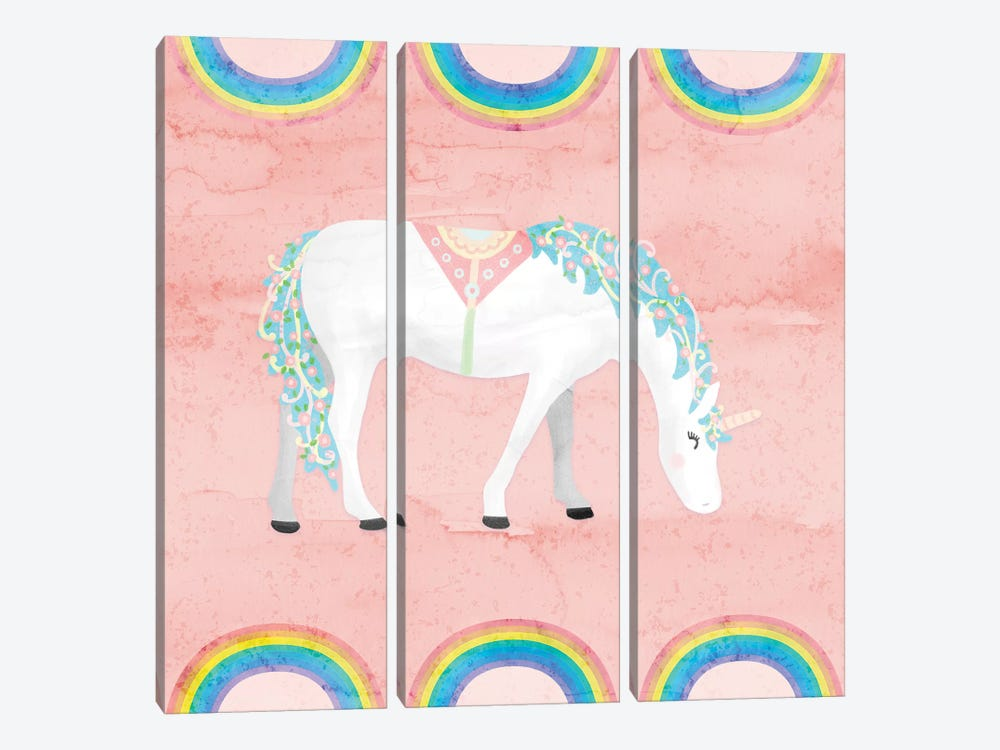 Rainbow Unicorn III by Noonday Design 3-piece Art Print