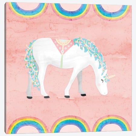 Rainbow Unicorn III Canvas Print #NDD76} by Noonday Design Art Print