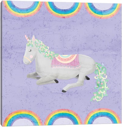 Rainbow Unicorn IV Canvas Art Print